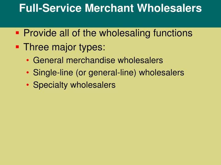Full-Service Merchant Wholesalers