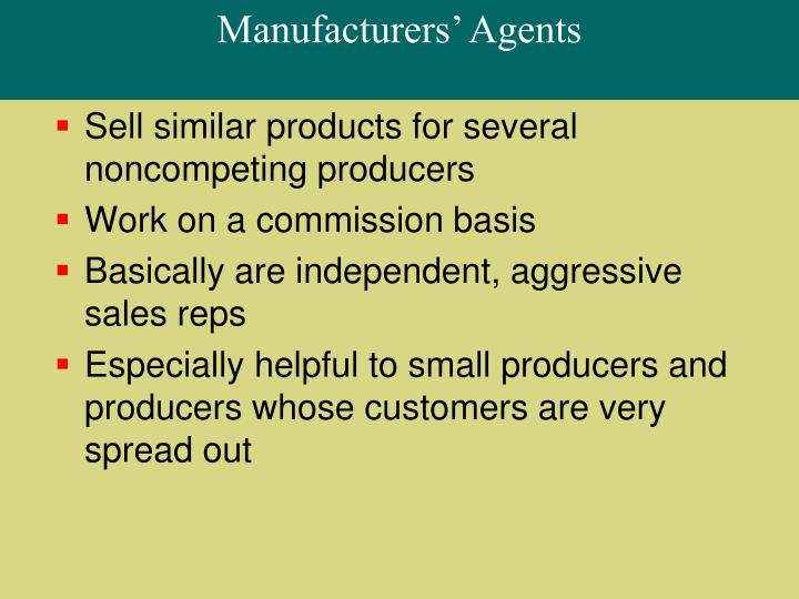 Manufacturers' Agents