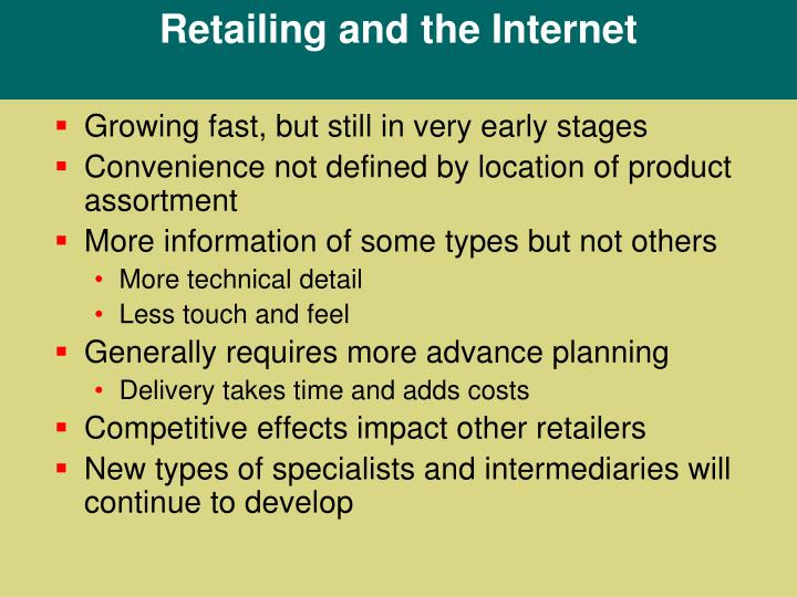 Retailing and the Internet