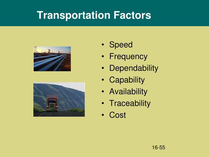 Transportation Factors