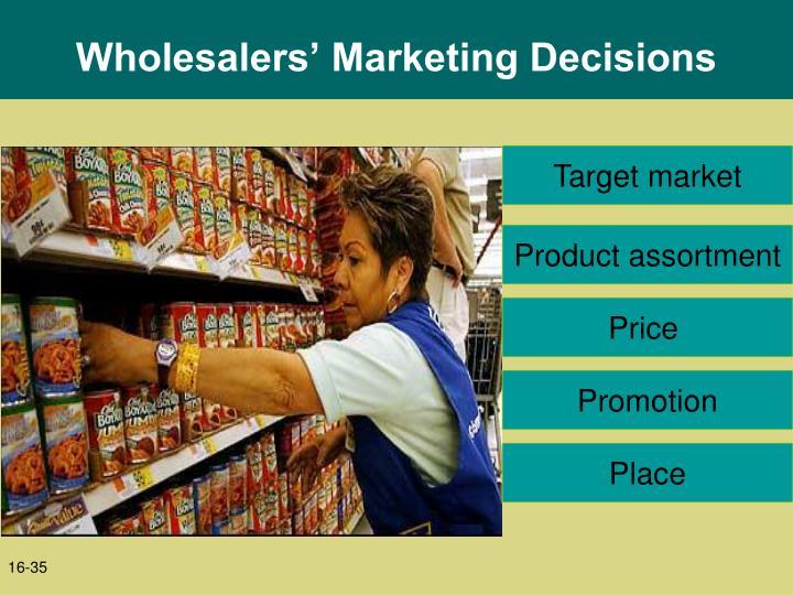 Wholesalers' Marketing Decisions