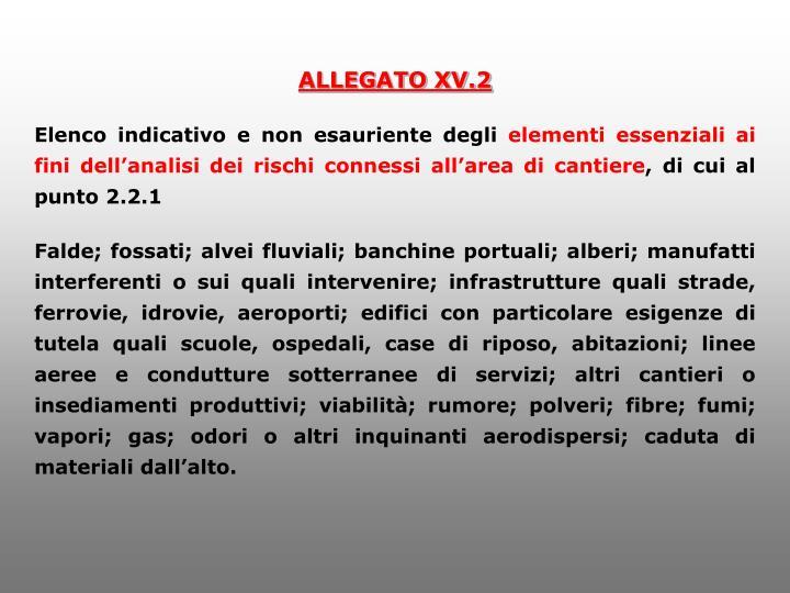 ALLEGATO XV.2