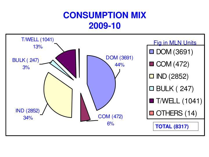 CONSUMPTION MIX