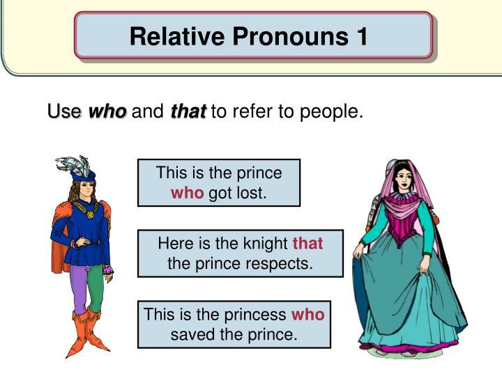 Relative Pronouns 1