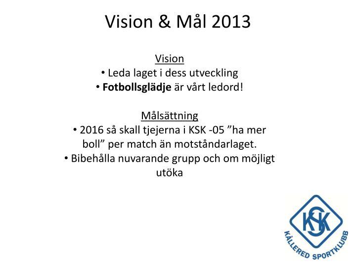 Vision & Mål 2013