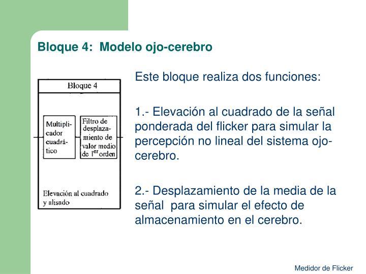 Bloque 4:  Modelo ojo-cerebro