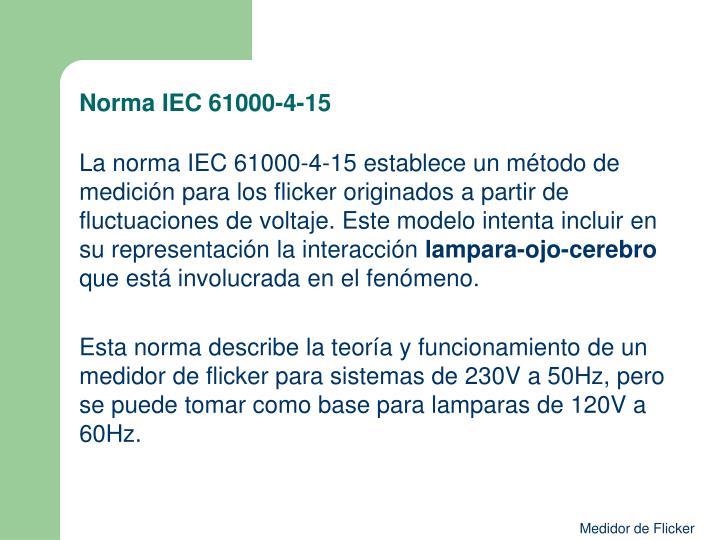 Norma IEC 61000-4-15