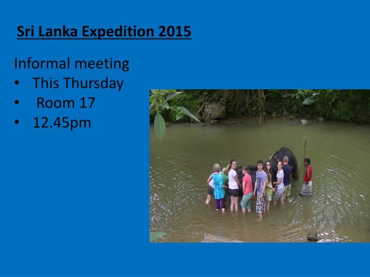 Sri Lanka Expedition 2015