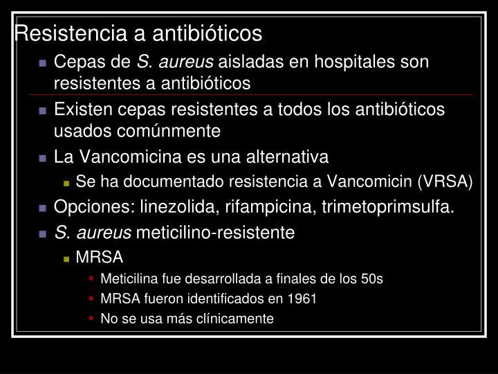 Resistencia a antibióticos
