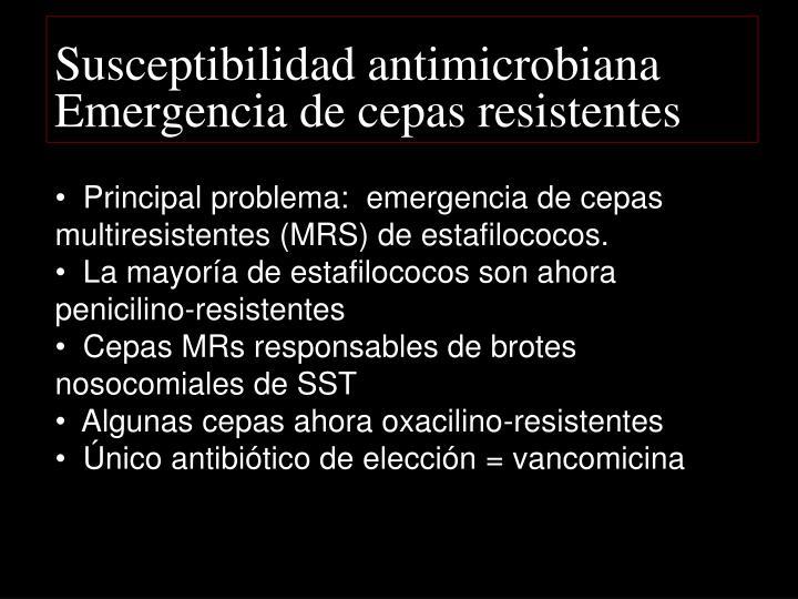 Susceptibilidad antimicrobiana