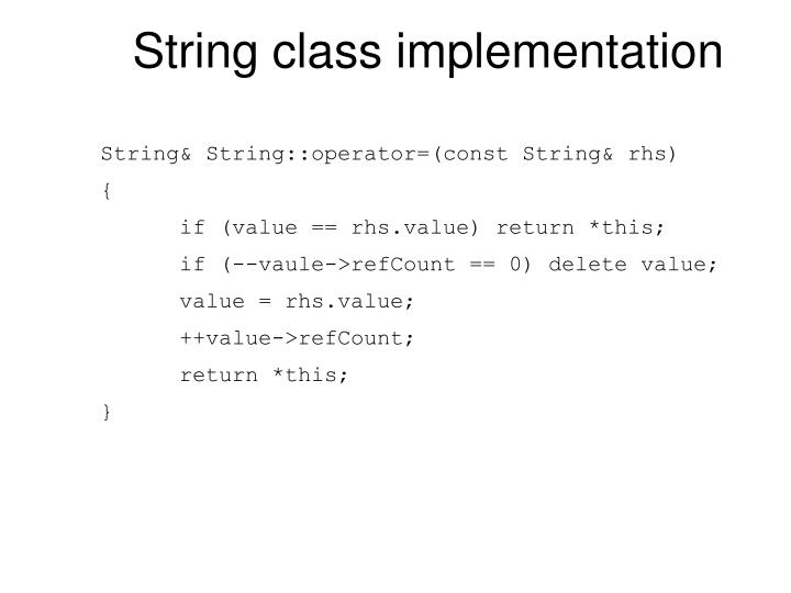 String class implementation