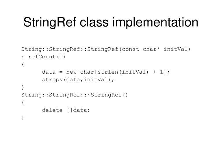 StringRef class implementation