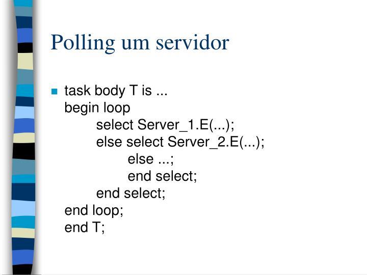 Polling um servidor
