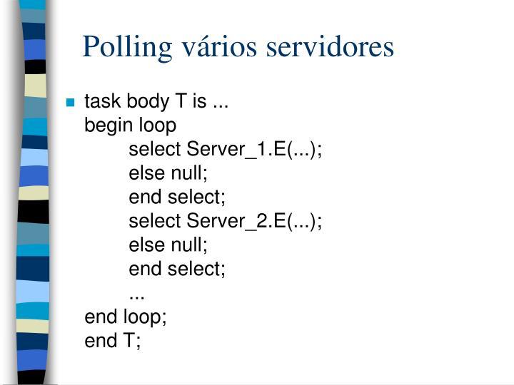 Polling vários servidores