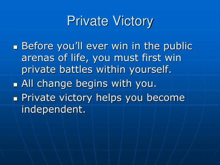 Private victory