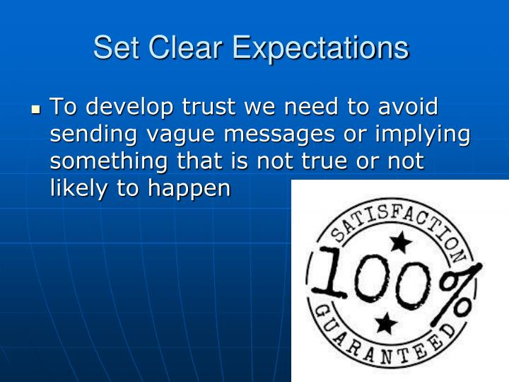Set Clear Expectations