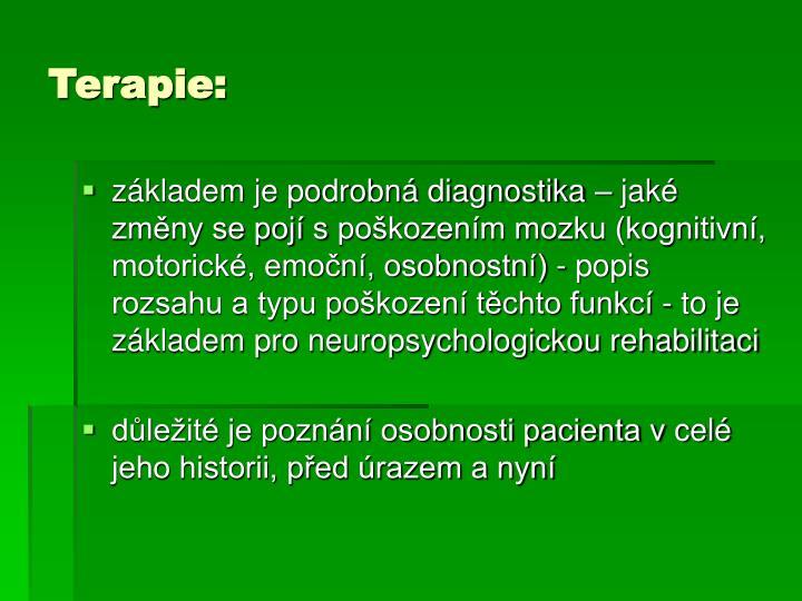 Terapie: