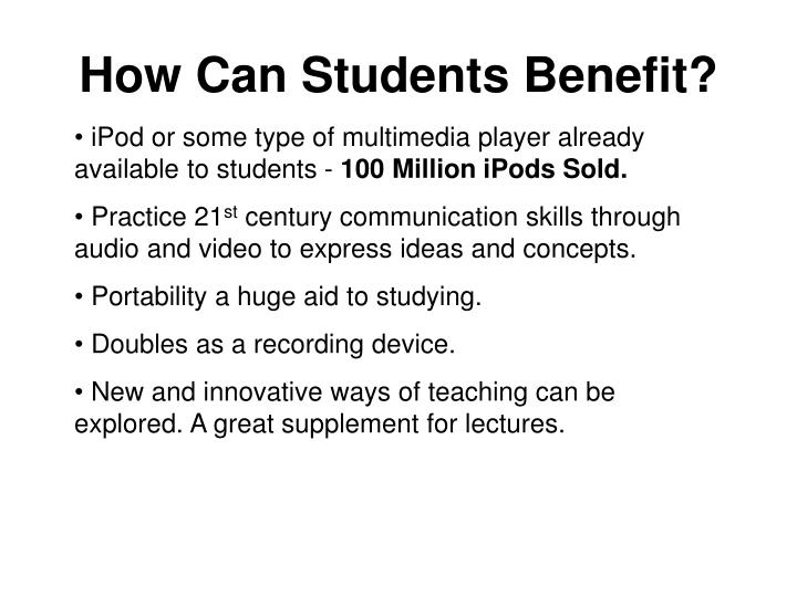 How Can Students Benefit?
