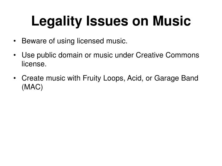 Legality Issues on Music
