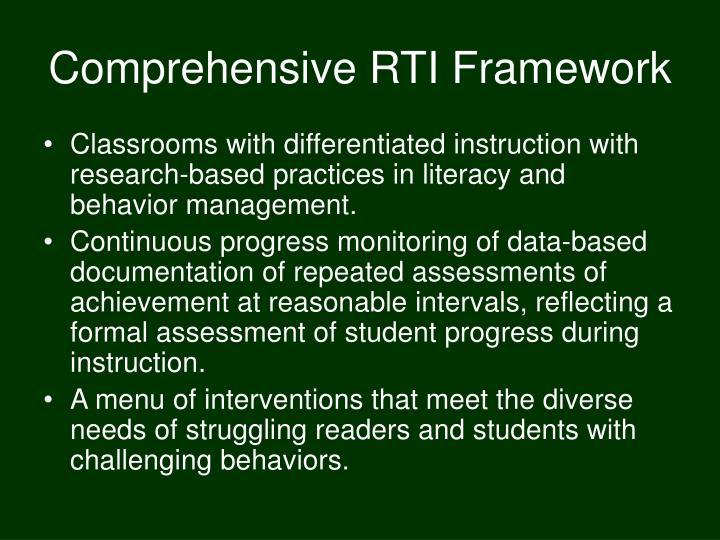 Comprehensive RTI Framework