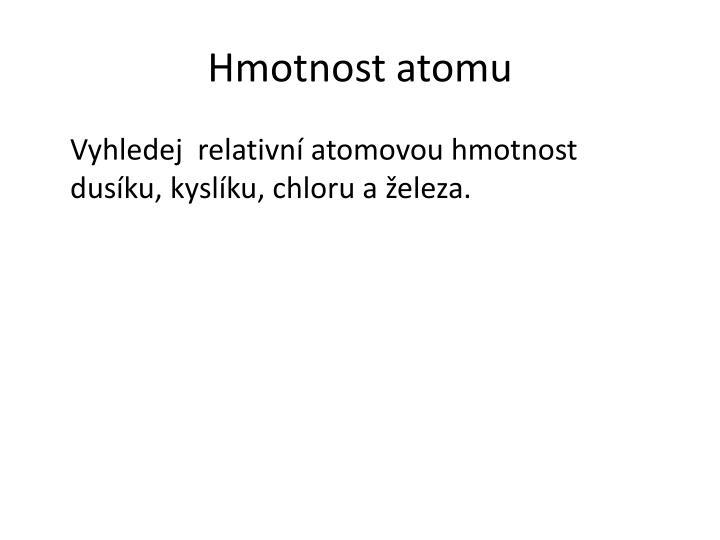 Hmotnost atomu