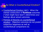 so what is counterfactual emotion