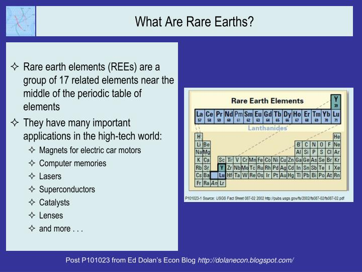 What Are Rare Earths?
