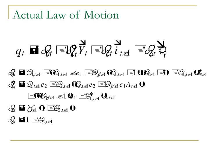 Actual Law of Motion
