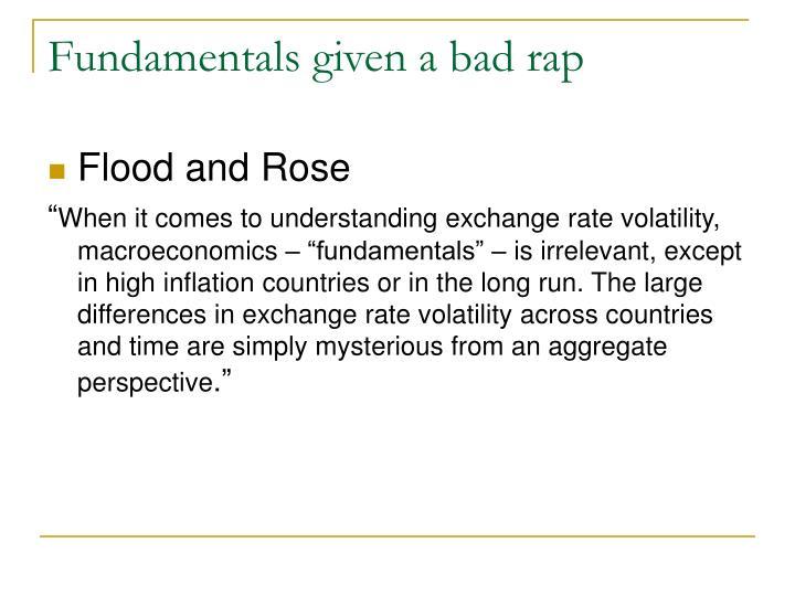 Fundamentals given a bad rap
