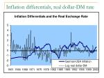 inflation differentials real dollar dm rate