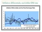 inflation differentials real dollar dm rate1