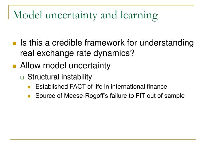 Model uncertainty and learning