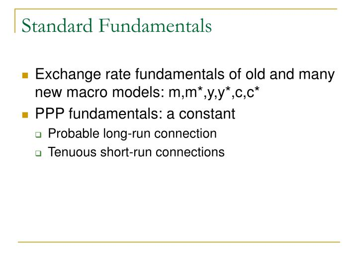 Standard Fundamentals