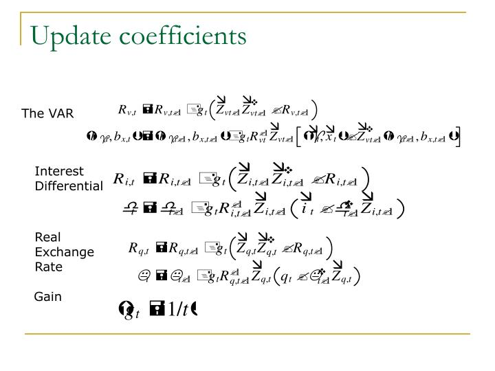 Update coefficients