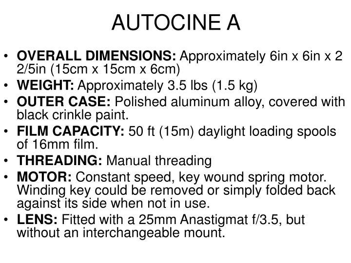AUTOCINE A