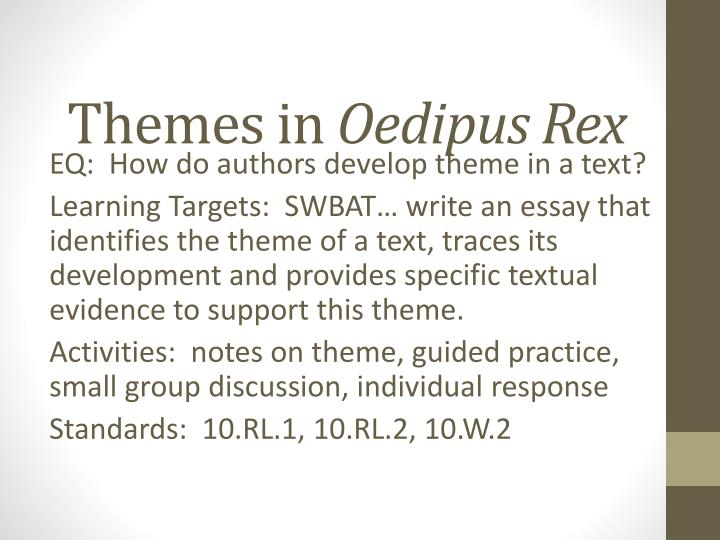 Essay Topics For Oedipus Rex