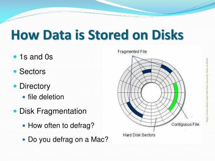 How Data is Stored on Disks