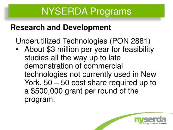 NYSERDA Programs