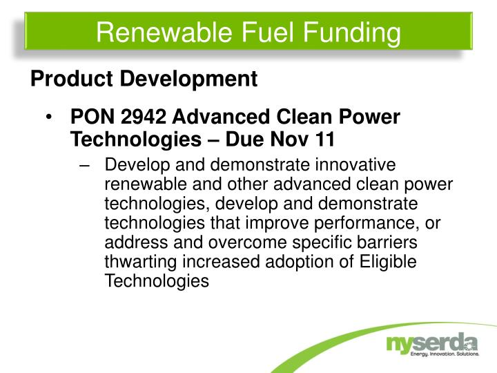 Renewable Fuel Funding