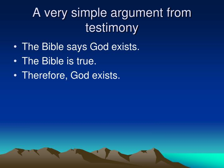 A very simple argument from testimony