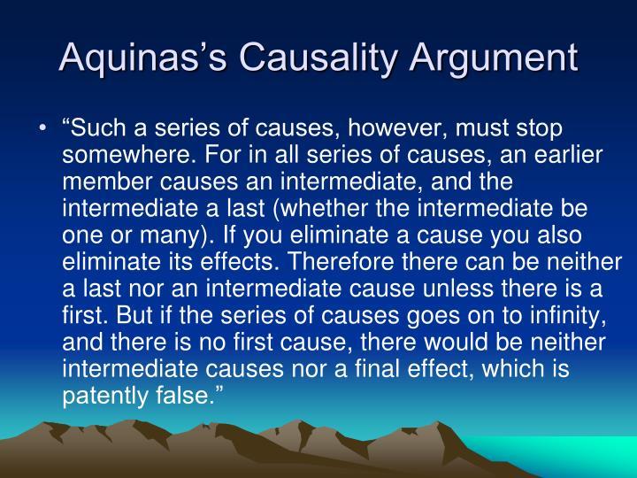 Aquinas's Causality Argument