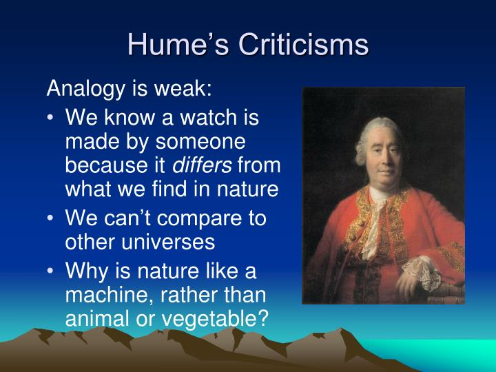 Hume's Criticisms