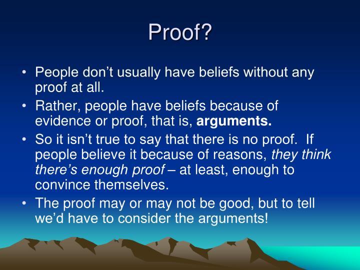 Proof?