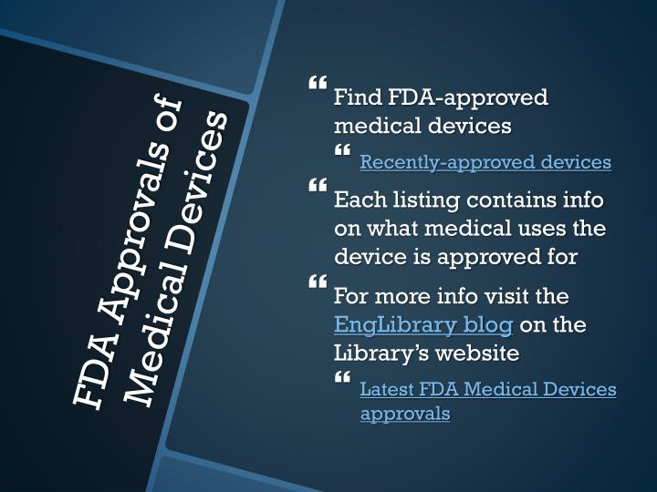 Find FDA-approved medical devices