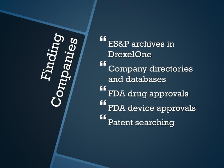 ES&P archives in