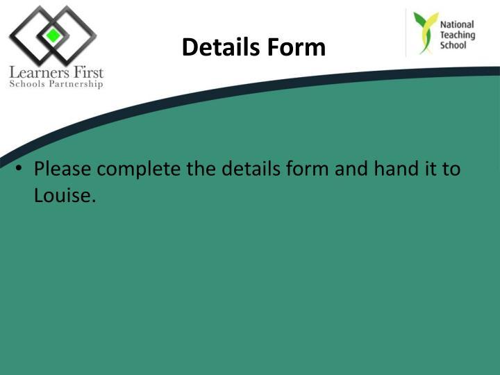 Details Form