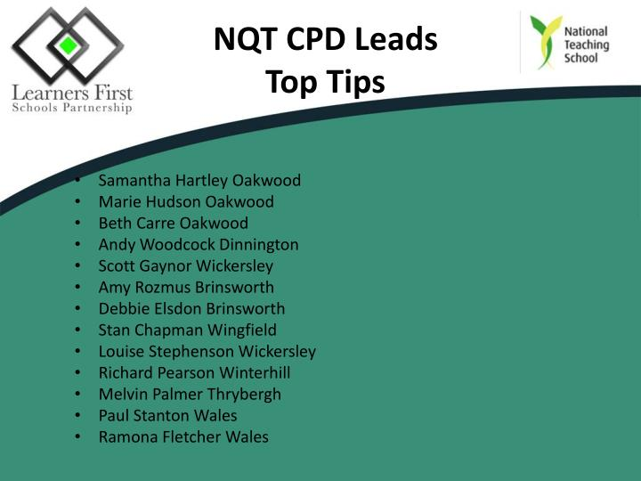 NQT CPD Leads