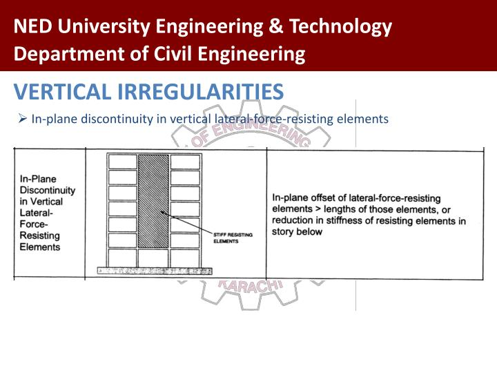 VERTICAL IRREGULARITIES