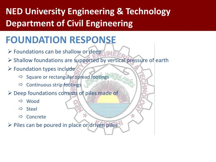 FOUNDATION RESPONSE