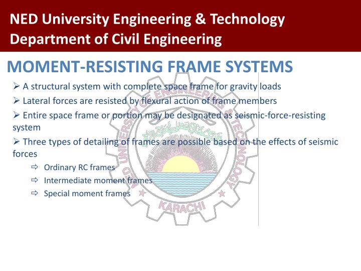 MOMENT-RESISTING FRAME SYSTEMS